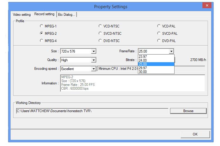 Software Honestech Tvr 2.5